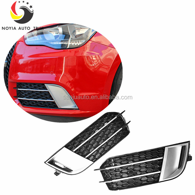 A1 RS1 Styling ABS Chrome Front Fog lamp Mask Car Styling Fog Lights Cover for Audi A1 Standard Bumper 2011-2014