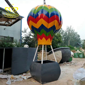 Outdoor Town Square Decoration Fiberglass Resin Colored Drawing Cartoon Balloon Sculpture