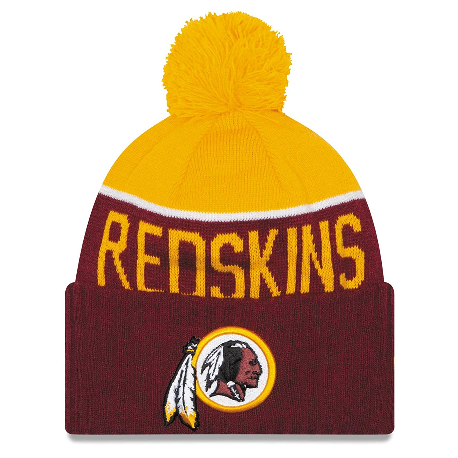 edcf7ab46 Buy New Era NFL Washington Redskins Woven Biggie Cuffed Ski Hat ...