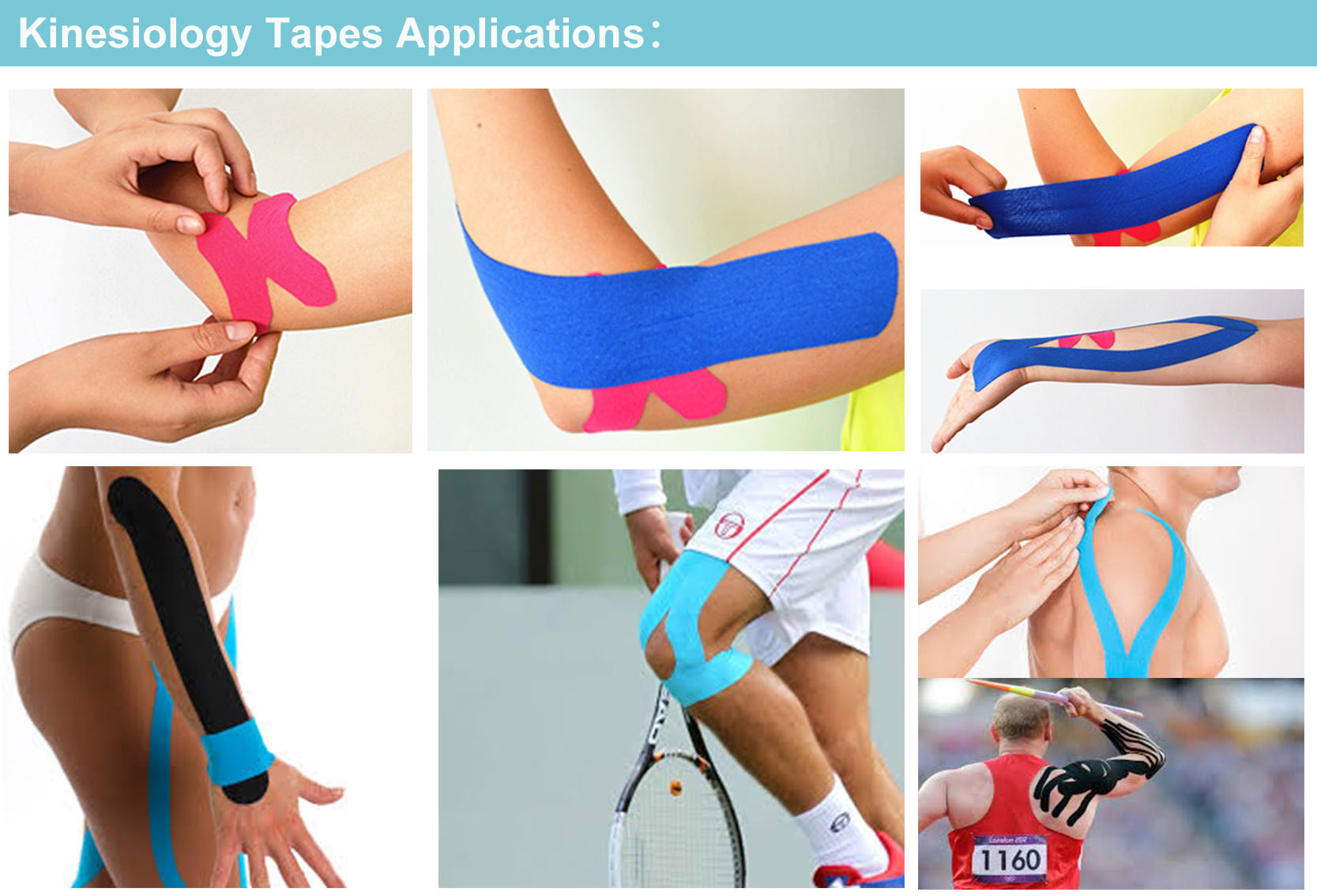 CE FDA China Factory 5cm*5m waterproof Kinesiology Tape
