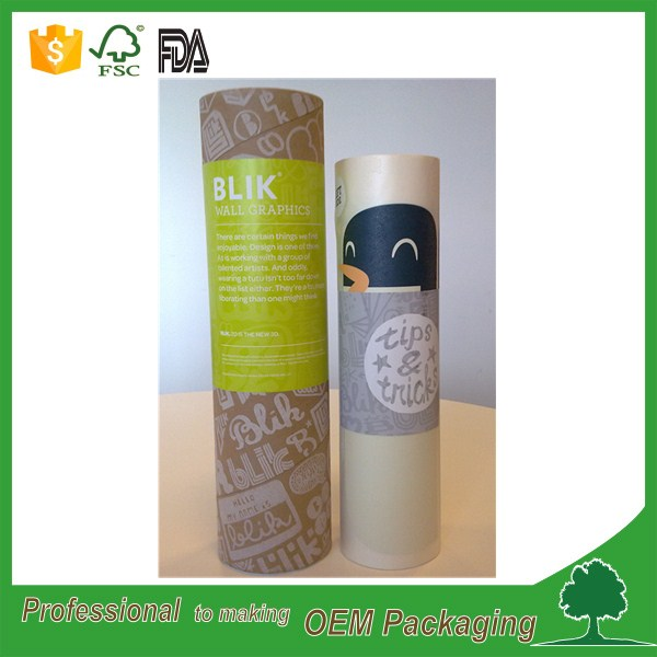 CMYK printing custom paper tube gift box for umbrella packaging in large size China