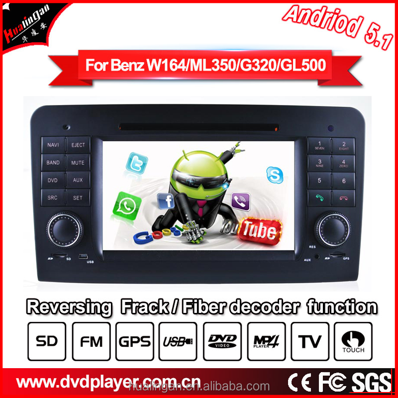 Android 5.1 HLA8823 QUAD CORE CAR DVD GPS For Mercedes Ben z ML/GL Car Audio