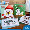2016 Factory printing Christmas card decoration small bulk greeting card