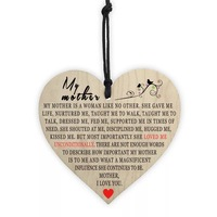 Heart-shaped wooden wall hanging wall sign customize text valentine's day decorations
