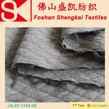 Cotton polyester diamond pattern knitted fabric make to order