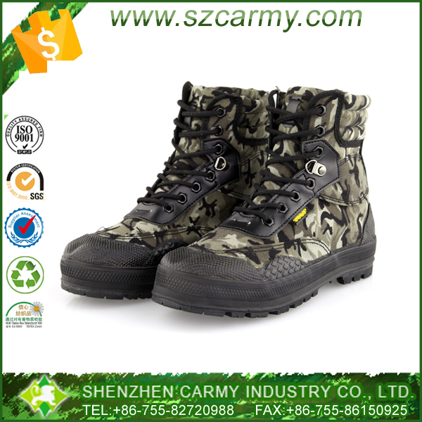Army duty gear military camouflage lace up breathable canvas combat boots for men