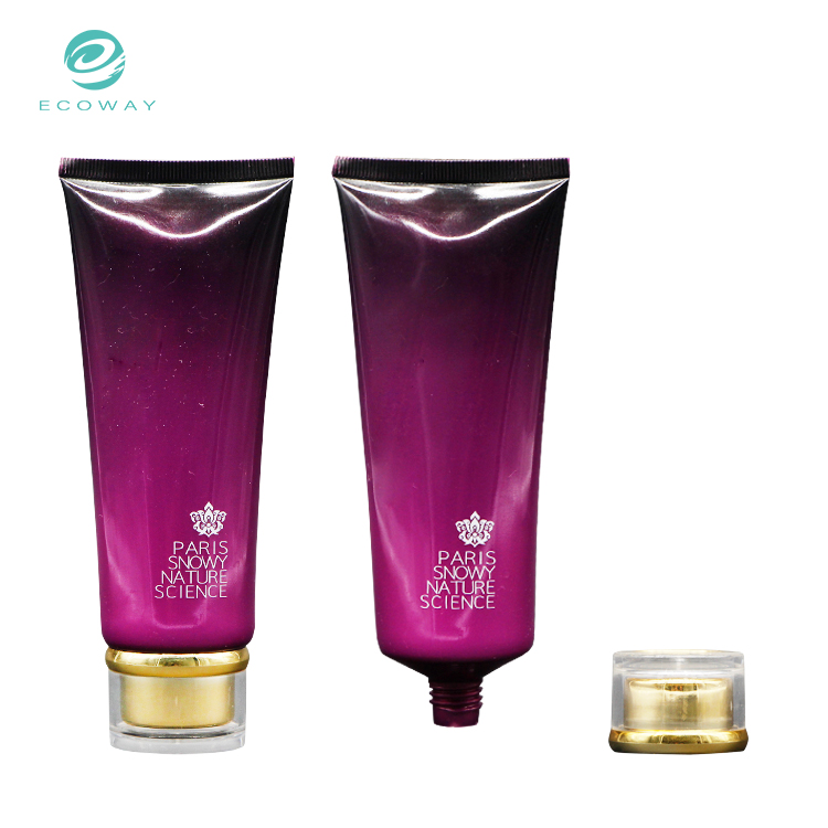 High quality simple customized containers soft packaging plastic body lotion tube