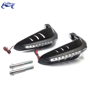 "Motocross Hand Guards For Black Motorcycle Hand Guard LED Turn Signal Light Lamp Brush Handlebar Protector 7/8"" 22mm For Dirt Bi"