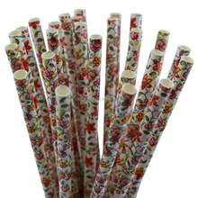 25ct 7.75'' Factory Wholesale Christmas Party Provide Custom Color Paper Straw 31P11