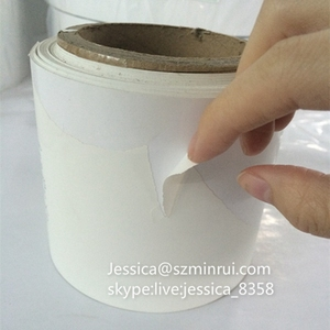 Custom Matte White Destructive Security Label Papers Brittle Wall Eggshell Paper Self Adhesive Label Material Rolls