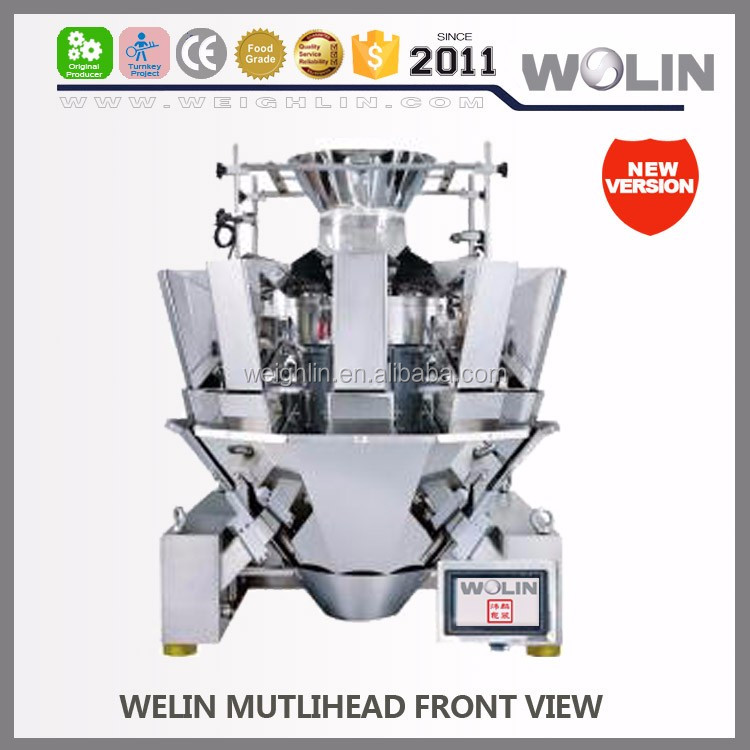 2018 new modular 10 14 Head Combination Weigher IP65 waterproof 2.5L Dimpe Hopper Dosing weight 10-1200g beans and rice