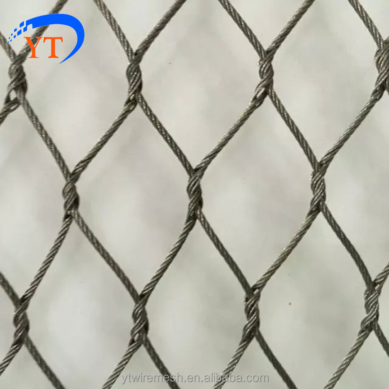 Stainless Steel Wire Rope Mesh Fence Net,Flexible Wire Mesh Fence ...