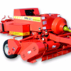 Hay and forage cutting and rubbing square baler baling equipment