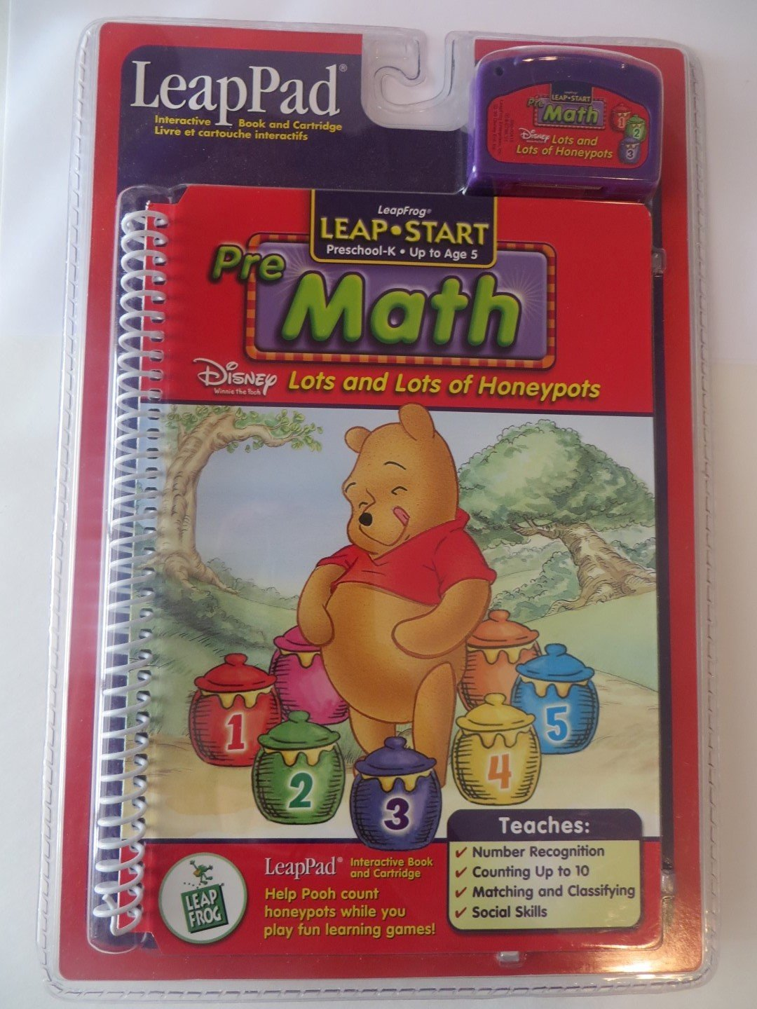 Leapfrog LeapPad Leap Start Preschool-K Pre-math with Disney Winnie The Pooh Lots and Lots of Honeypots