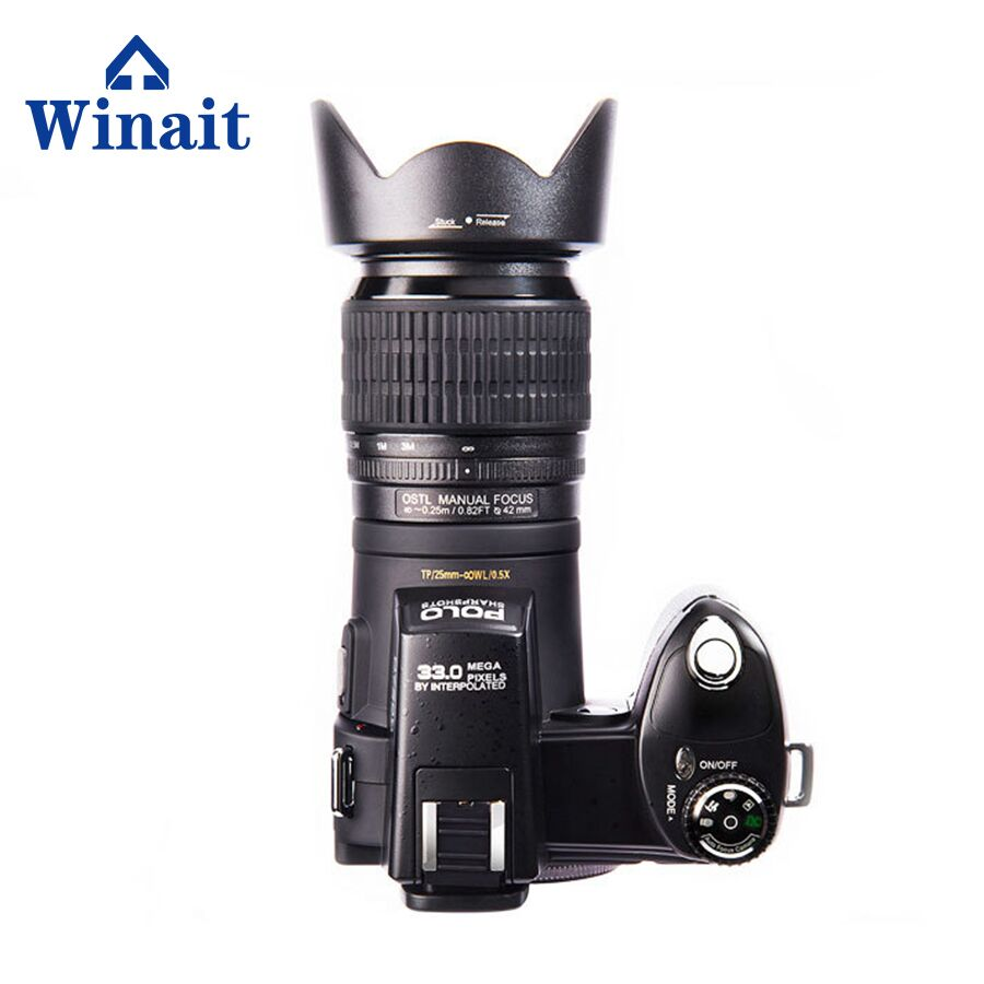 33mega pixels Chinese dslr camera D7100 with wide angle lens 8X digital zoom digital camera