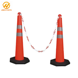 Flexible Polyethylene Post With Reflective Striping T-TOP Traffic Stacker Cone
