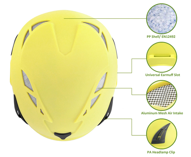 CE EN 12492 Climbing helmet for work at height/rock climbing/civil defence 11