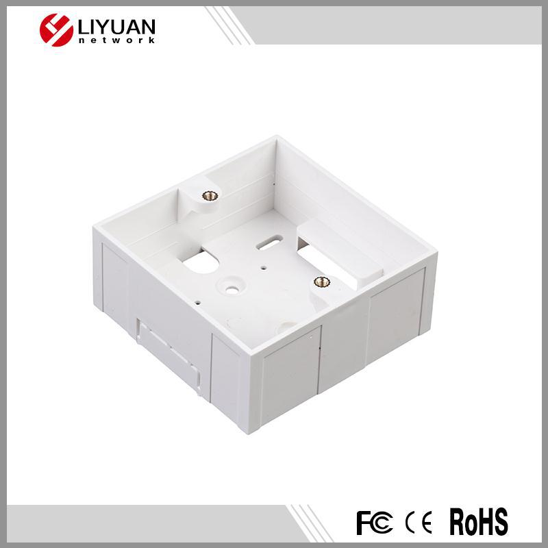Plastic electrical back box for 86 type faceplate