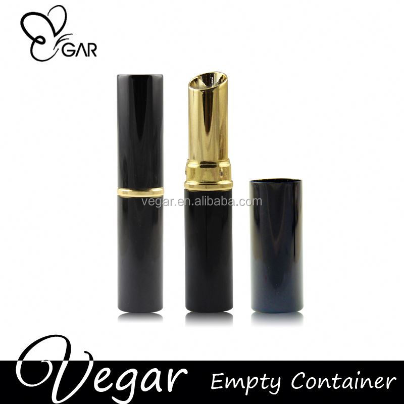 cosmetics packing lipsick tube black and gold color safe and effective fiber mascara