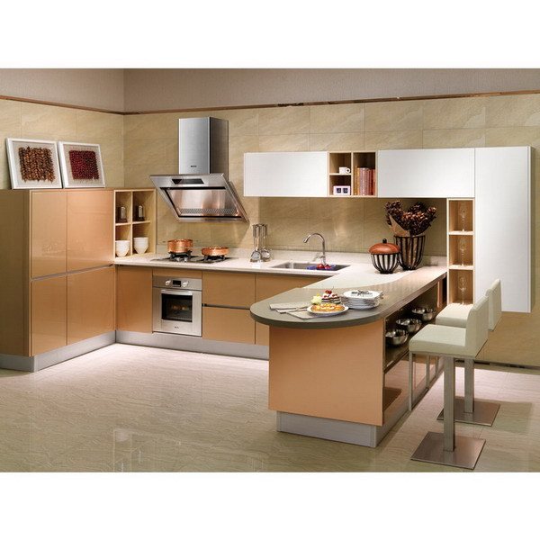 Popular Classic Solid Wood New Model Laminate Kitchen Cabinet In ...