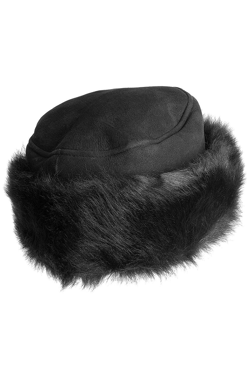 20b3ef037ca Get Quotations · Overland Sheepskin Co Russian Shearling Sheepskin Cossack  Hat with Toscana Trim