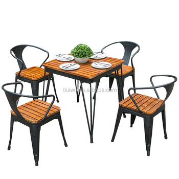 Foshan Factory 4 Seater Outdoor Pine Coffee Table And Chair Set
