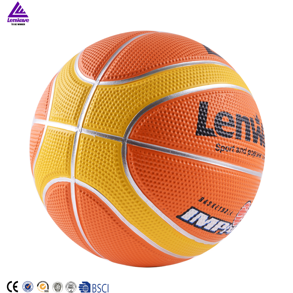 Lenwave brand colorful basketball ball cheap price custom rubber basketball