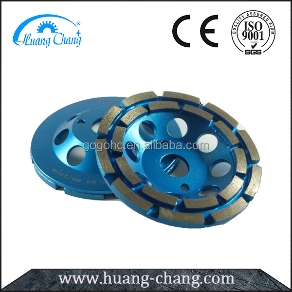 Double rows diamond grinding cup wheel 100MM