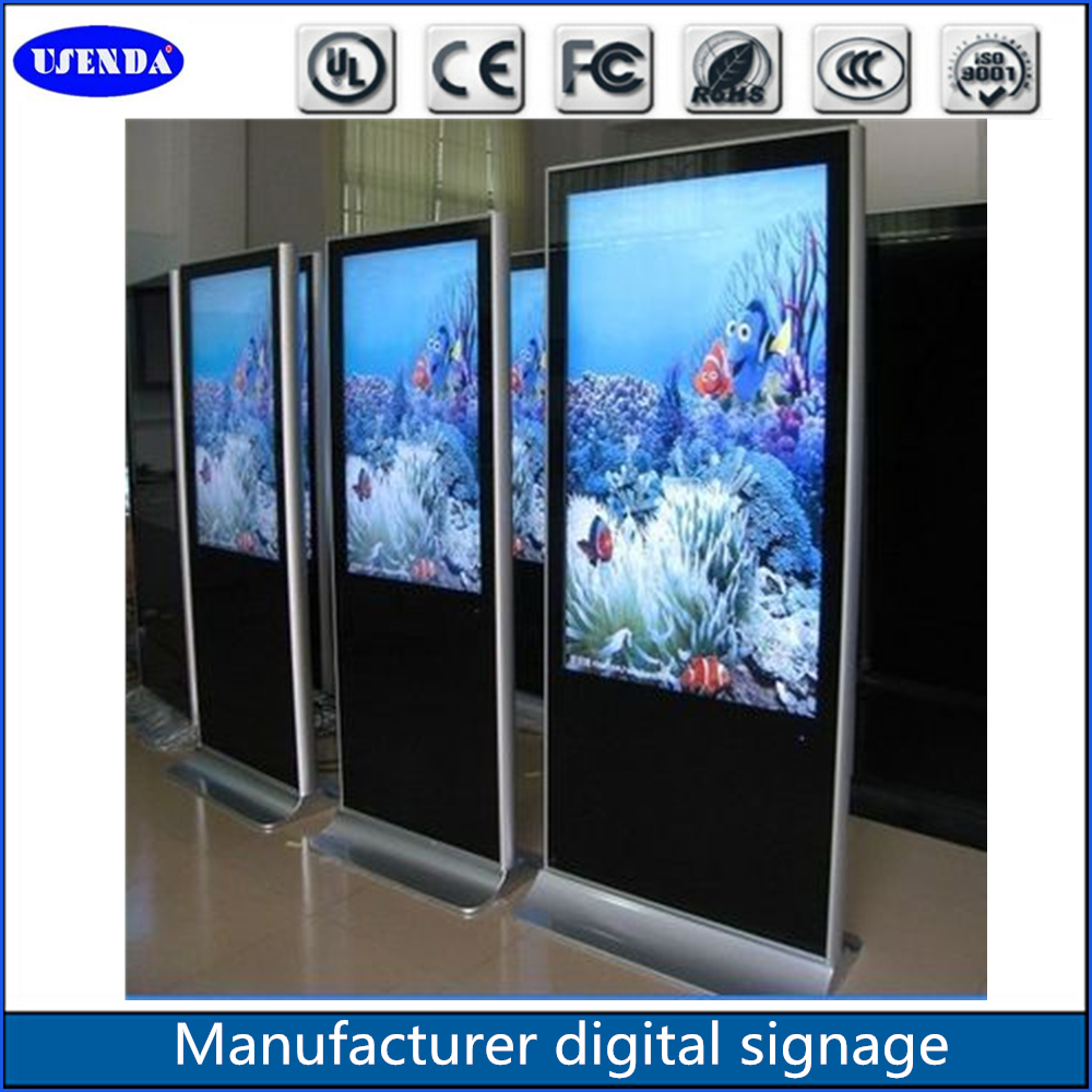 55 Inch Made In China Double Screen Kiosk Double Sided Flexible ...