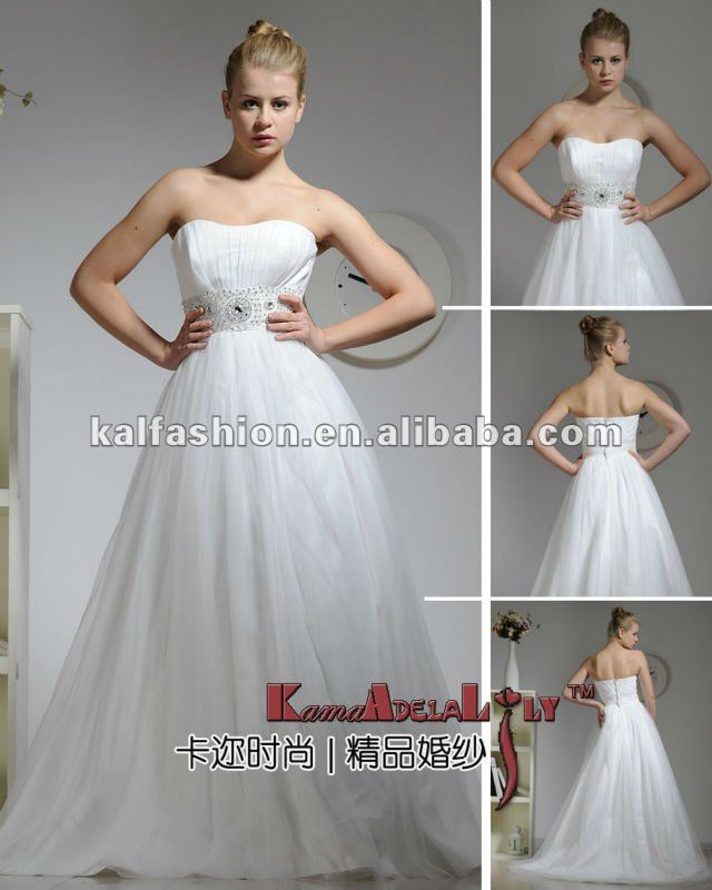 EB1242 Best design up grade inside crinoline lace wedding dress