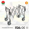 Coffins lowering device trolleys aluminum alloy funeral stretcher