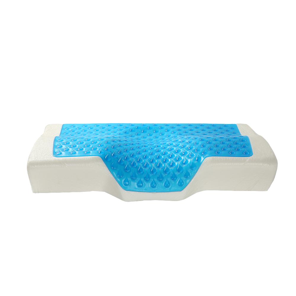 ホット販売格安冷却旅行首枕ゲル材料クールシリコーンゲル冷却低反発ベッド睡眠枕