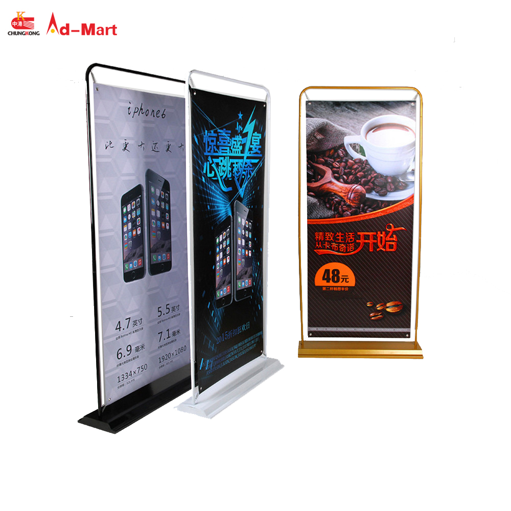 Deur vorm banner stand, deur type frame display, ijzer display rack voor outdoor