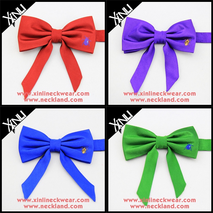 Solid Silk Tie Dye Bow Ties