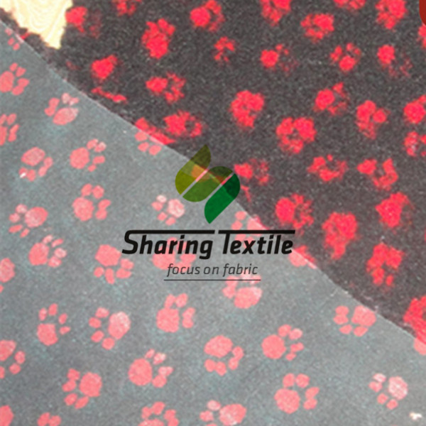 Wholesale Pattern Rubber Backing Vetbed/Printing Anti-slip Backing Pet Bed/Antislip Printing Drybed