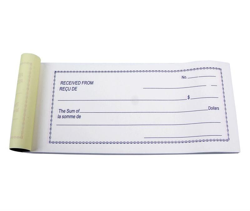 sales receipt book    cash receipt book    rent receipt book