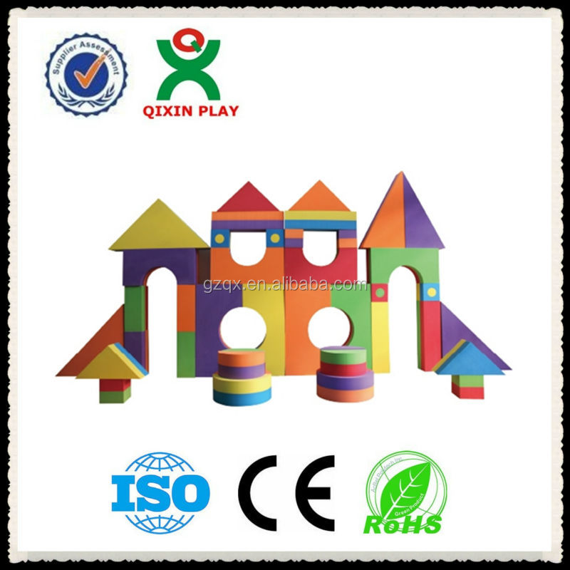 Strong quality eco-friendly eva large foam building blocks for sale/wange building blocks/QX-185D