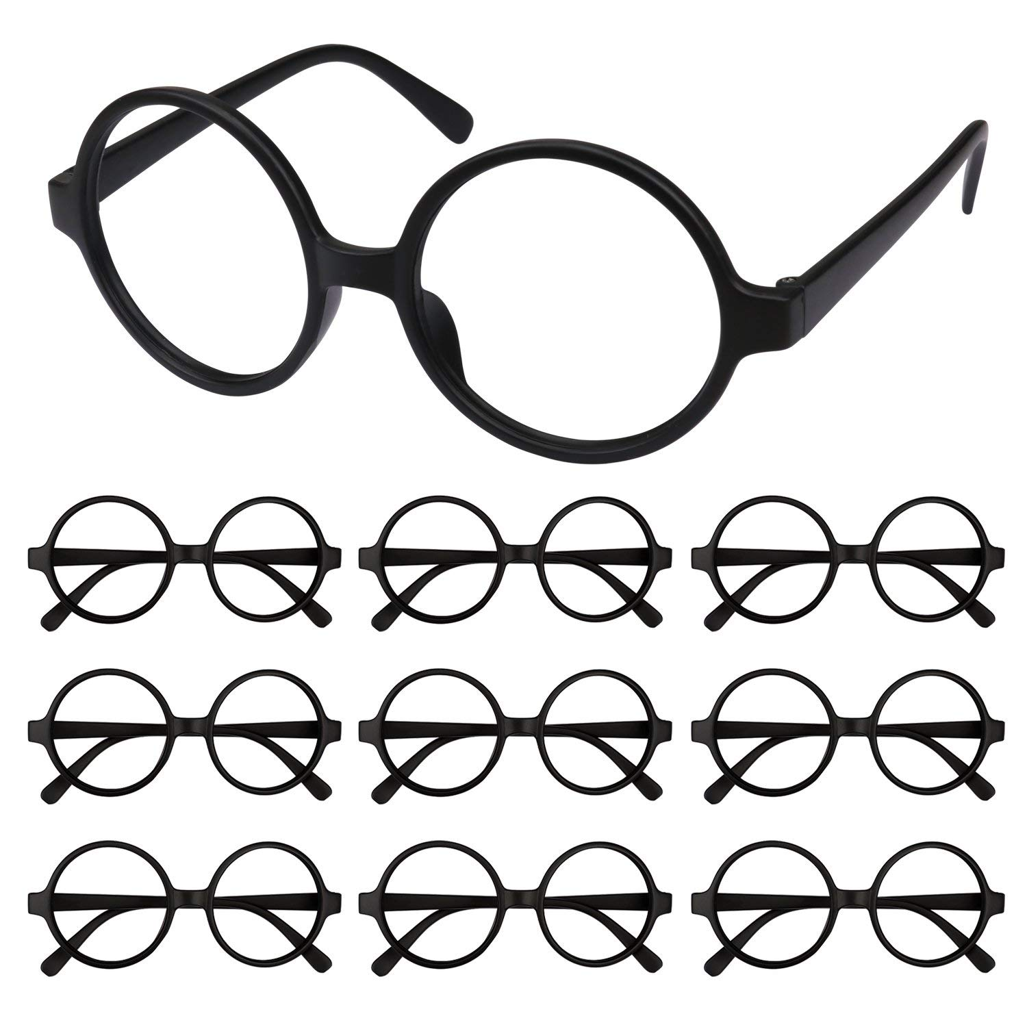 094444b0b72 Get Quotations · Hapdoo Black Kids Retro Round Glasses Frame Plastic Wizard Glasses  Frame No Lenses for Kids Costume
