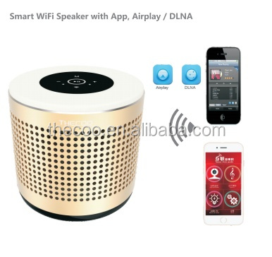 Intelligent wifi Speaker Bluetooth Creative Colorful LED Lights Mini smart home speaker