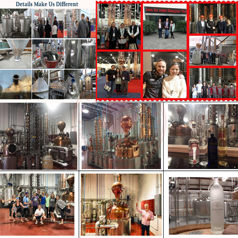 DYE Gin wodka whisky brandy fruit witte geest alcohol destilleren destillatie ethanol making machine