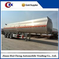 Fuel oil water transportation aluminum tanker trailer on sale