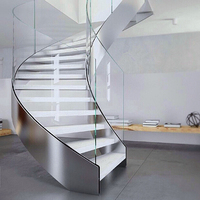NEW design hot sales spiral staircase/stainless steel spiral wood stairs