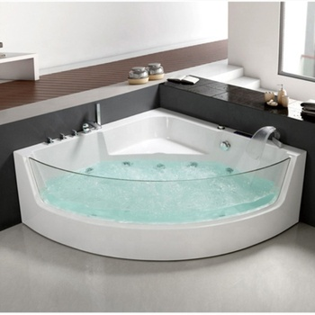 Outdoor Rose Quartz Spa Bathtub With Backrest