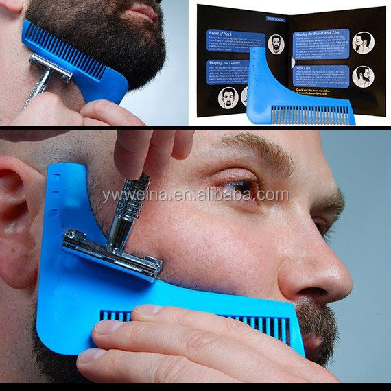 the Beard Comb Hair Shaping Tool Beard Trimming Guide