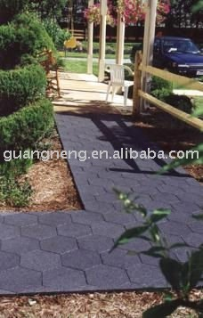 recycled rubber tile hexagonal rubber tile
