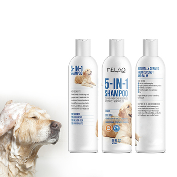 Private label organic Pet Natural Dog Shampoo + Conditioner For Dogs And Cats Soap Free With Natural Oils And Aloe