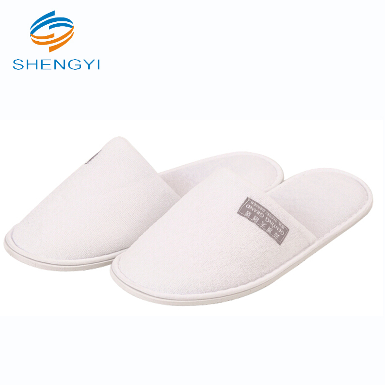 Custom branded color pictures printed beautiful pool or indoor cotton eva slippers for ladies