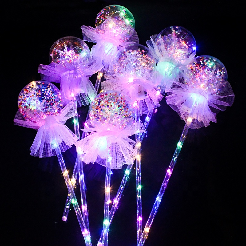Plastic Glowing Magic Wand LED Flashing Fairy Stick
