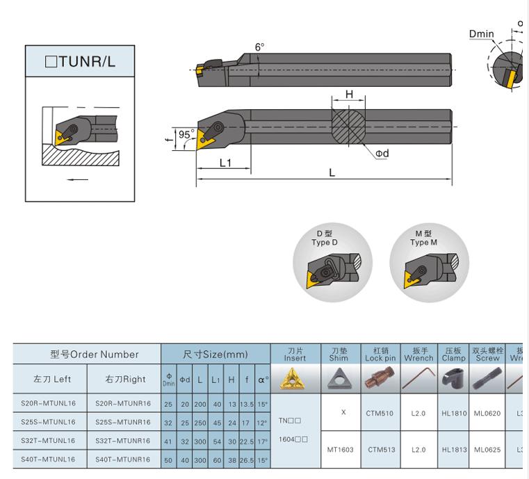 Internal Turning Tool Holder S20r Mtunr16 Lathe Boring Bar Cnc Lathe Tool  Holders - Buy Cnc Turning Tool Holder,Lathe Machine Tool Holder,Internal
