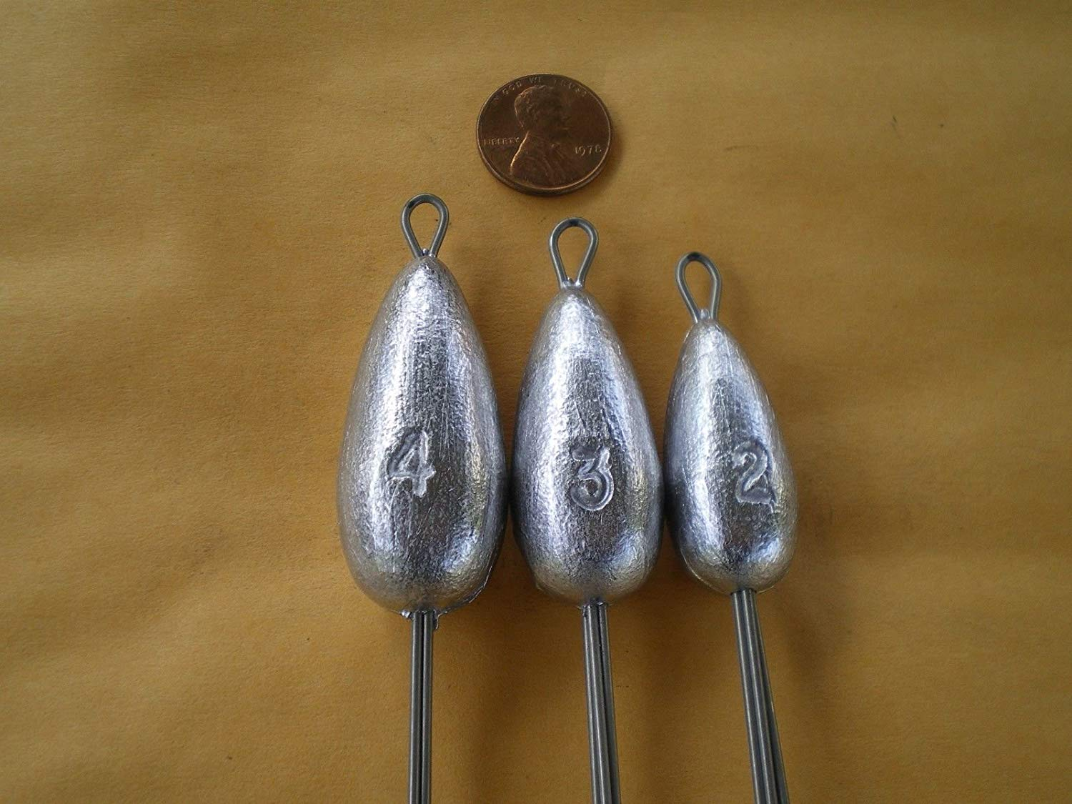 "Fishing Sport Eq. 15 PCS. SPIDER/CLAW SINKER, SURF/MUD WEIGHT - W/3"" S.S. LEGS 2, 3, 4, OZ. 5 EACH"